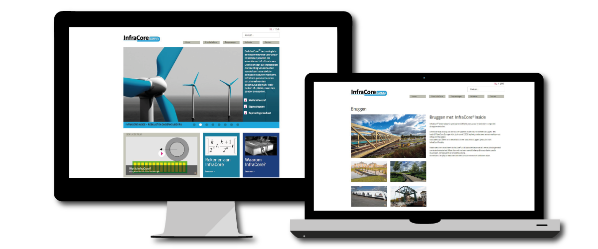 FiberCore Europe product-website voor