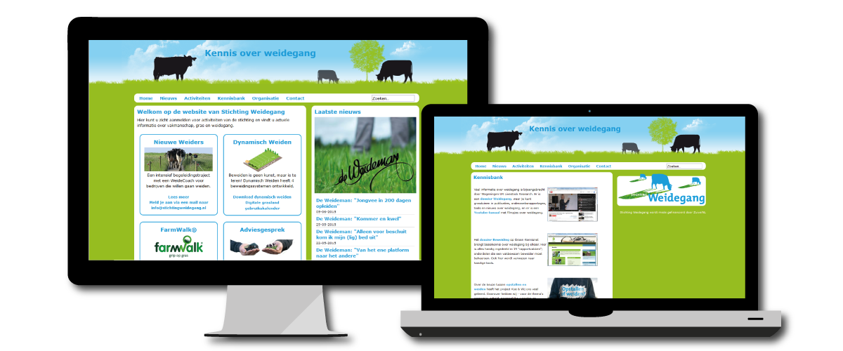 Website Stichting Weidegang