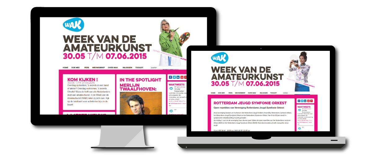 Website Week van de Amateurkunst